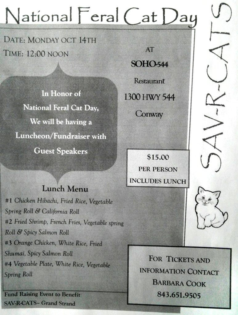 Feral Cat Day Luncheon