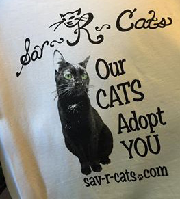 Sav-R-Cats T-Shirt Our Cats Adopt You