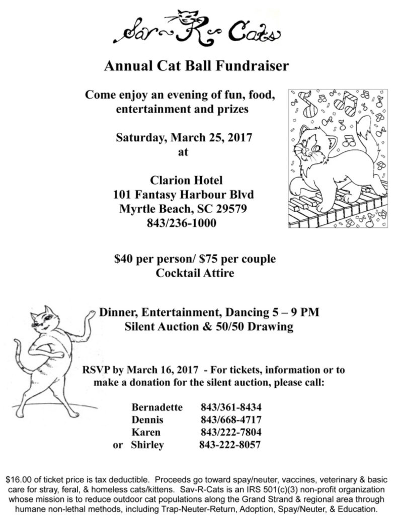 Sav-R-Cats 2017 Cat Ball Fundraiser