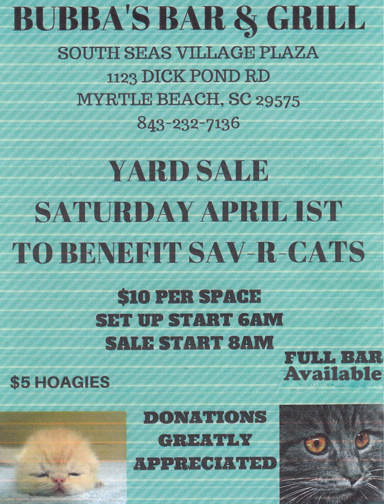 Yard Sale to Benefit Sav-R-Cats